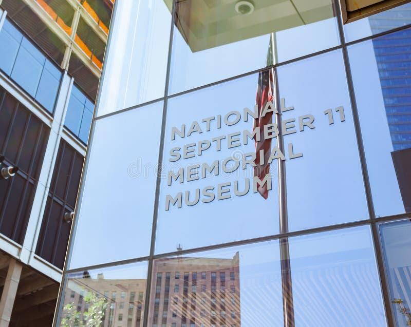 Ingång av det minnes- nationella Septemberet 11 & museet royaltyfria foton