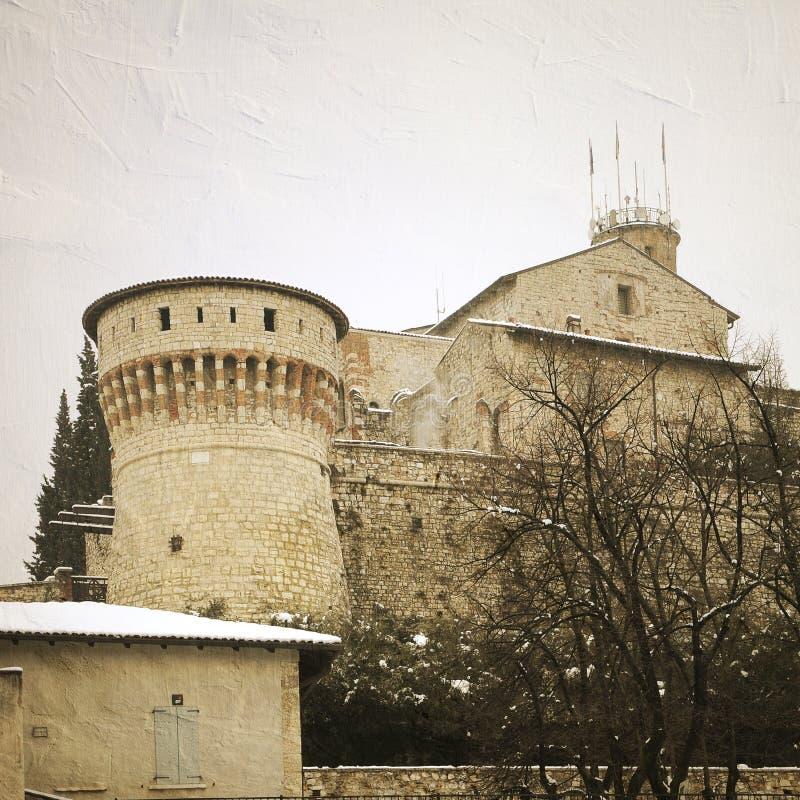 Ingång av medeltida byggnad arkivfoto