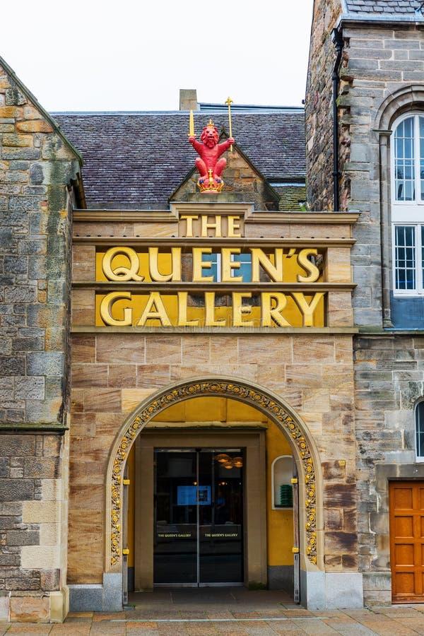 Ingång av Queensgallerit i Edinburg, UK fotografering för bildbyråer