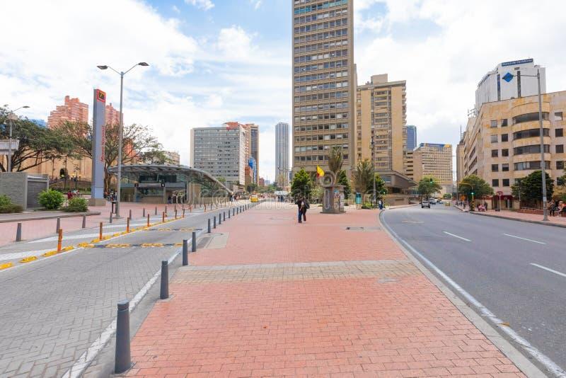 Ingång Colombia för nationellt museum för Bogota tunnelbanastation arkivfoton
