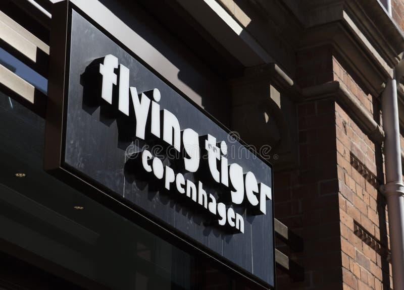Ingång för flygTiger Copenhagen lager, Lincoln, Lincolnshire, U royaltyfria foton