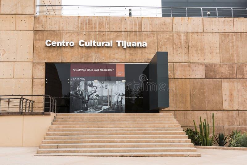 Ingång till CECUT i Tijuana Mexico royaltyfri foto
