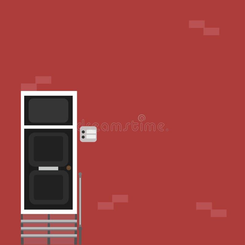 Ingång till den nya lägenheten royaltyfri illustrationer