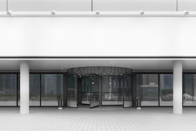 Ingång till kontorsbyggnad, främre sikt royaltyfri illustrationer