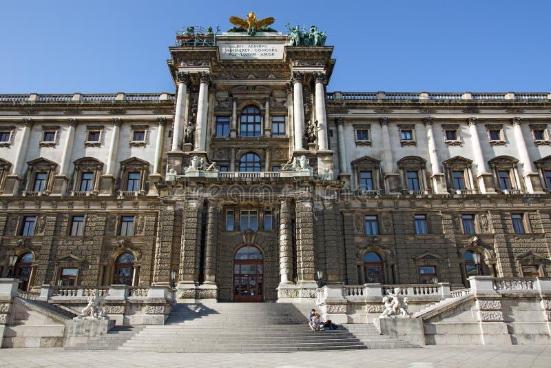 Ingång till museet av etnologi i Wien, Österrike royaltyfri foto