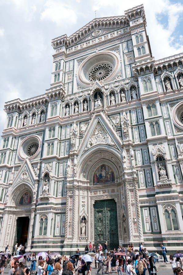 Ingången av den Santa Maria del Fiore domkyrkan, Florence royaltyfri fotografi