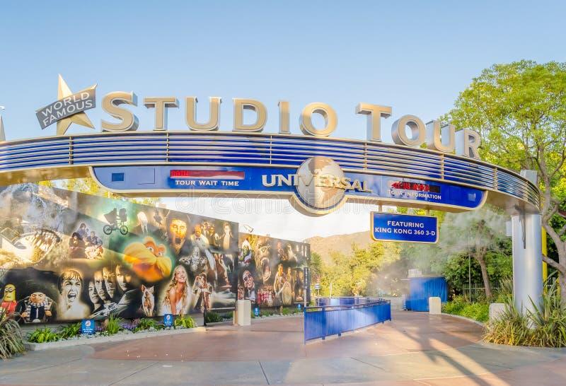 Ingången av studion turnerar, den populära dragningen på universalen arkivbilder