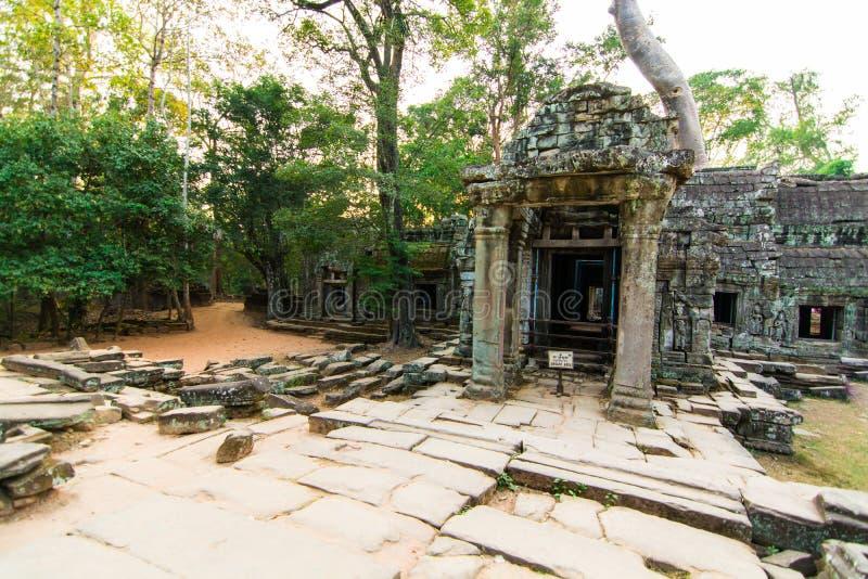 Ingången för slott för Ta Phrom royaltyfri foto