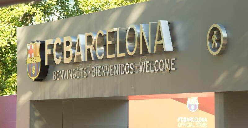 Ingången i Camp Nou stadion, Barcelona Spanien royaltyfria foton