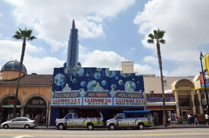 Ingången till den Guinness världen av rekordmuseet som lokaliseras på Los Angeles, USA arkivbilder