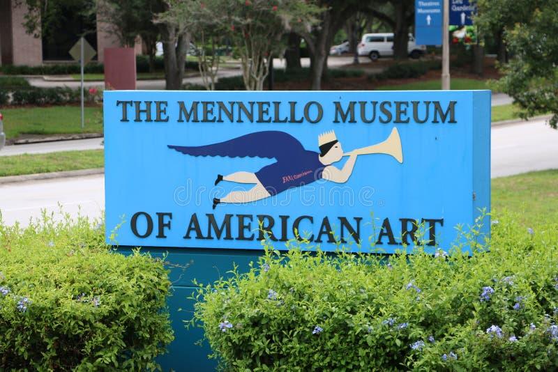 Ingången till det Mennello museet av amerikansk konst arkivbilder