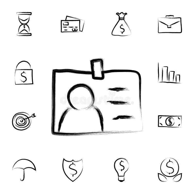 ingångsemblemet skissar stilsymbolen Den specificerade uppsättningen av att packa ihop in skissar stilsymboler Högvärdig grafisk  vektor illustrationer