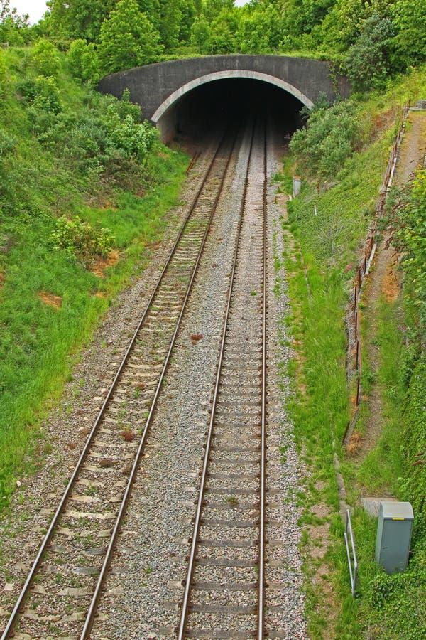 ingångsjärnväg som ska grävas royaltyfri bild