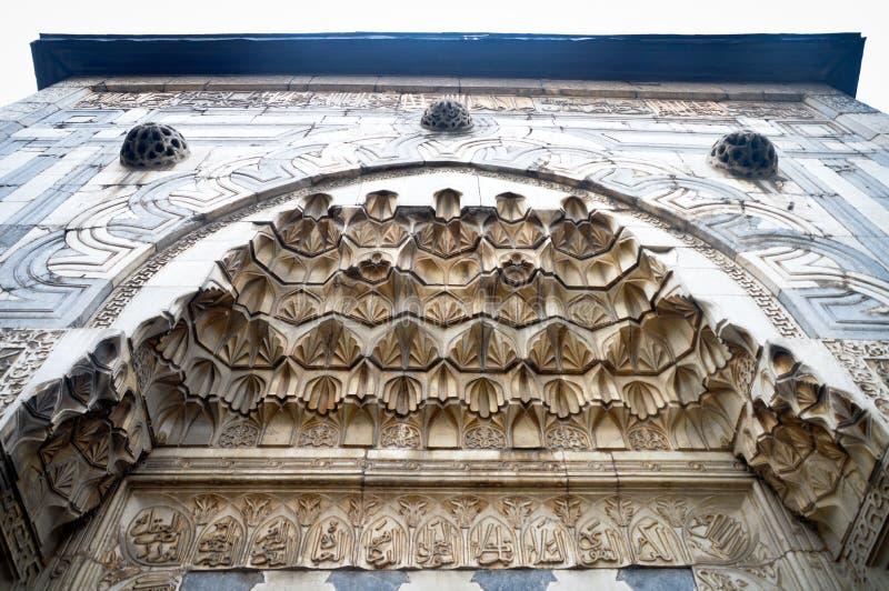 Ingångsport av moskén royaltyfria bilder