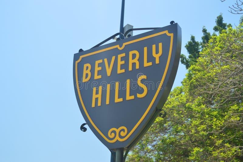 Ingångstecken till Beverly Hills Neighborhood fotografering för bildbyråer