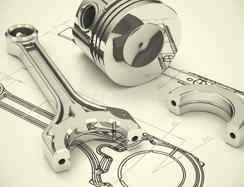 ingénierie illustration stock