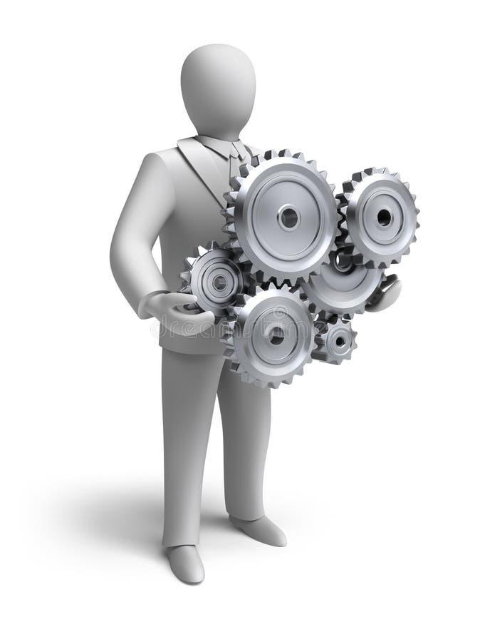 Ingénierie d'affaires en cours illustration stock