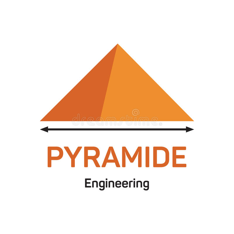 Ingénierie de Pyramide illustration stock