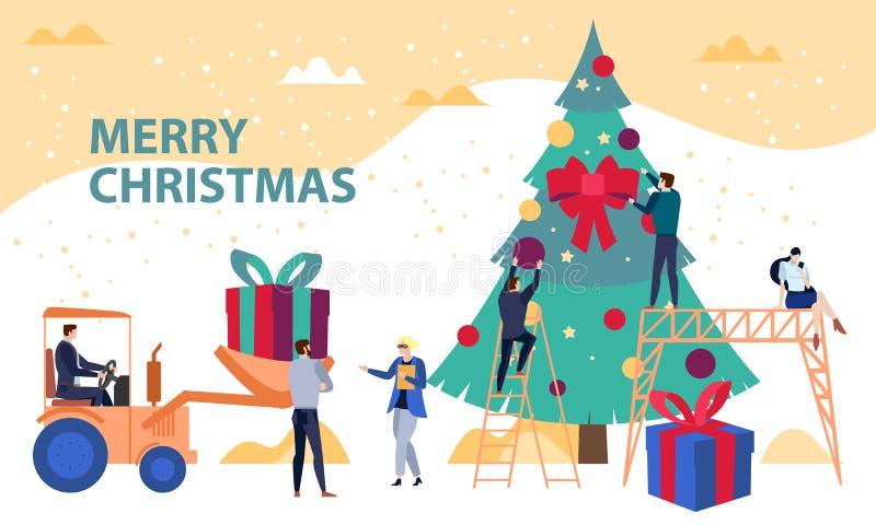 Ingénierie et développement des affaires Concept vectoriel de Noël illustration illustration stock