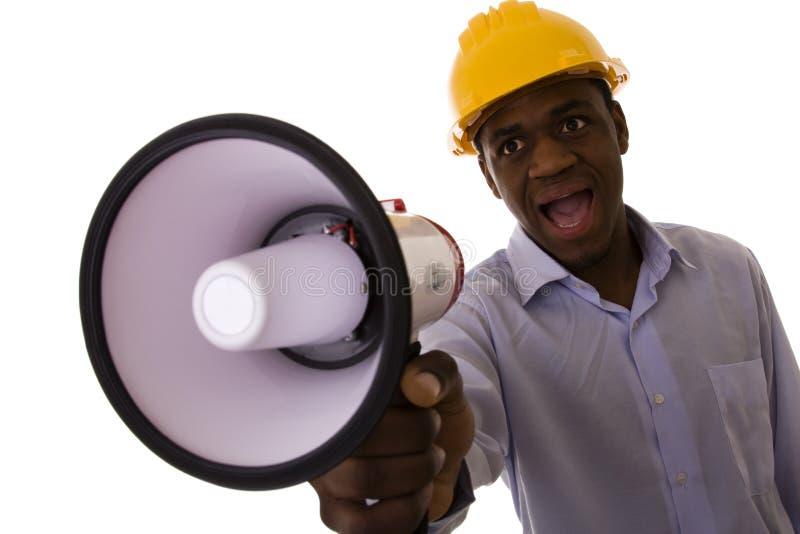 ingénieur africain photo stock