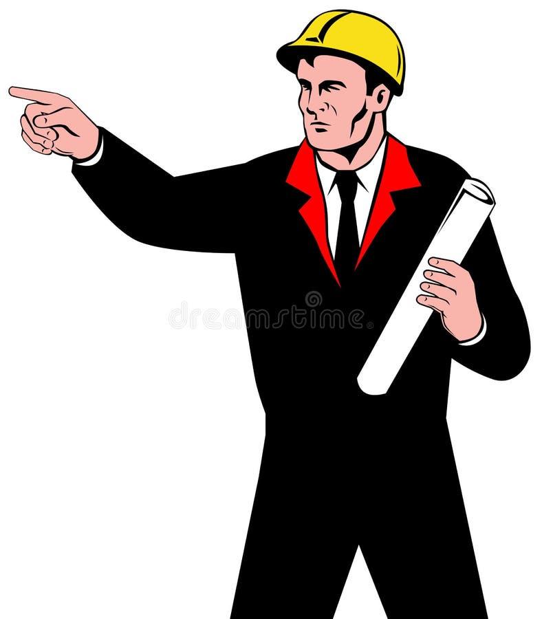 Ingénieur au travail illustration libre de droits