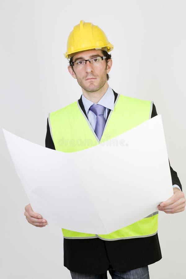 Ingénieur avec un projet images stock