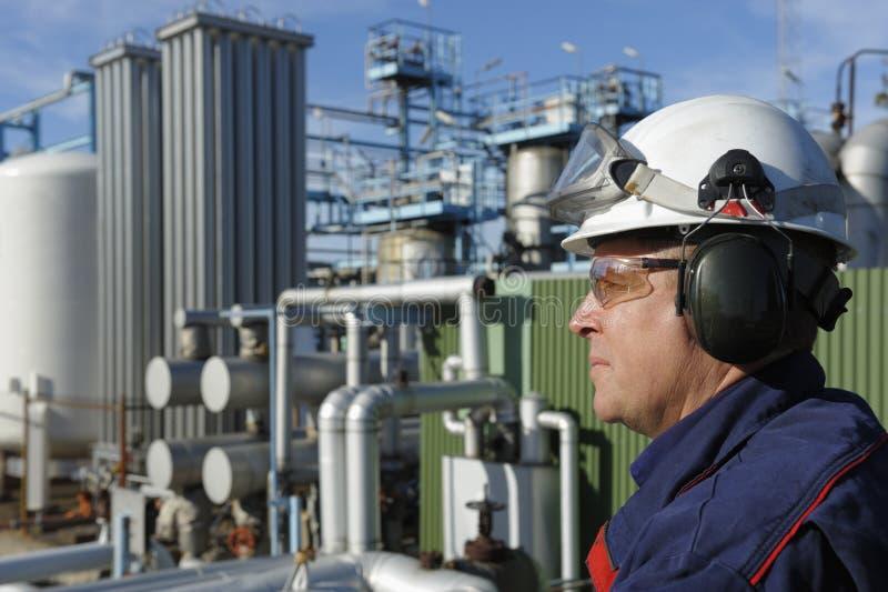 Ingénieur chimique de pétrole et de gaz photos libres de droits