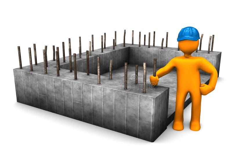 Ingénieur civil de base illustration de vecteur