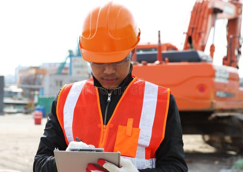Ingénieur de constructeur au travail image libre de droits