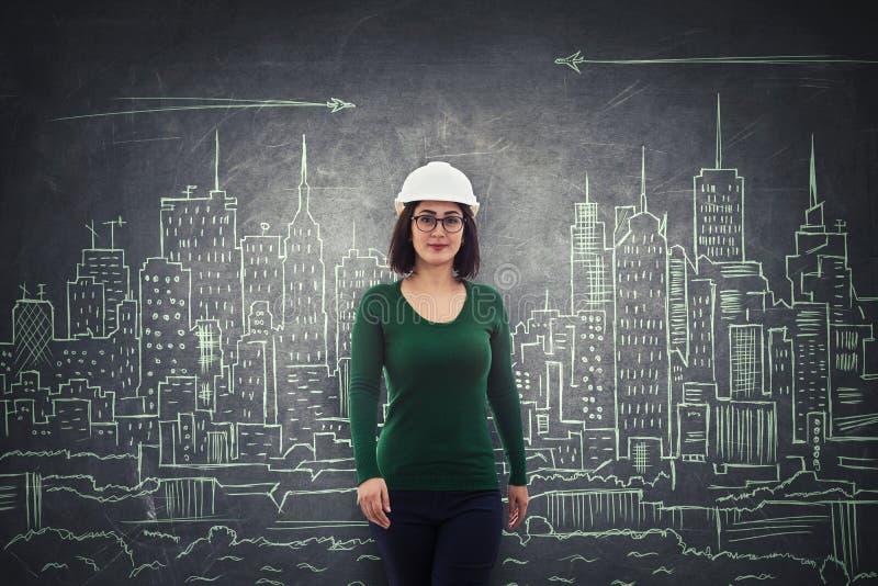 Ingénieur de construction sûr photographie stock