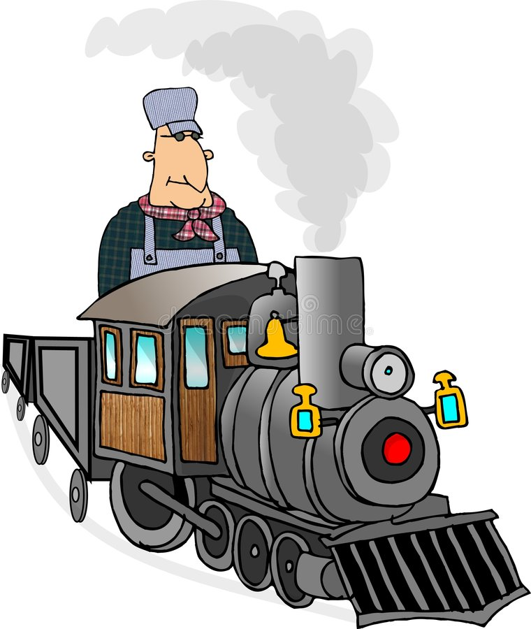 Ingénieur de train illustration de vecteur