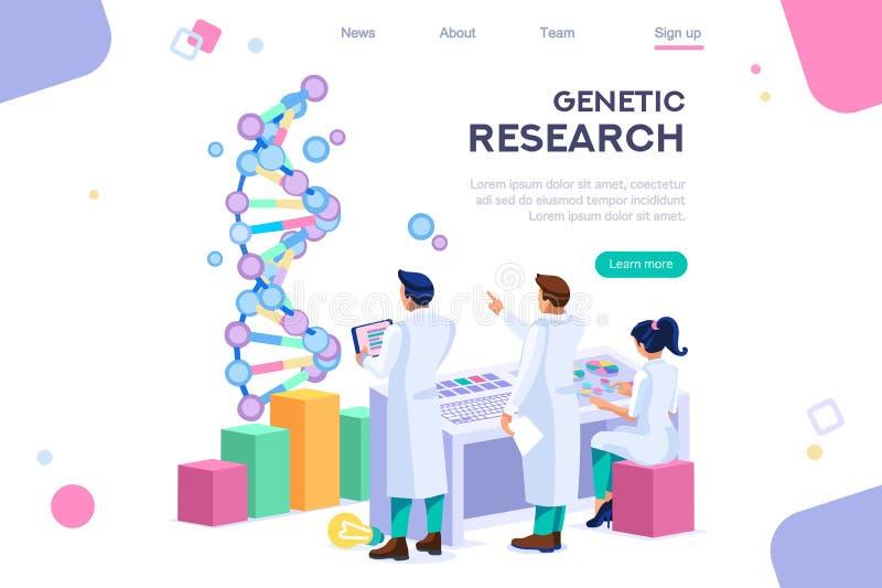 Ingénieur génétique Concept de génome de recherches illustration libre de droits