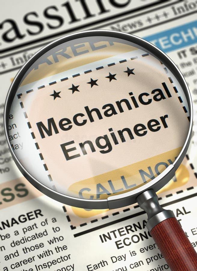 Ingénieur mécanicien Hiring Now 3d illustration libre de droits