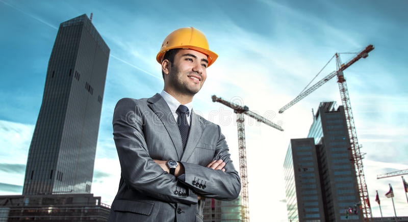 Ingénieur ou architecte réussi photo libre de droits