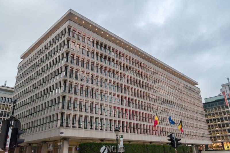 ING Bankgebäude - BRUXELLES MARNIX lizenzfreie stockfotos