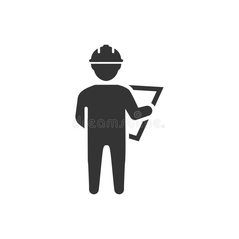 Ing?nieur de construction Icon illustration stock