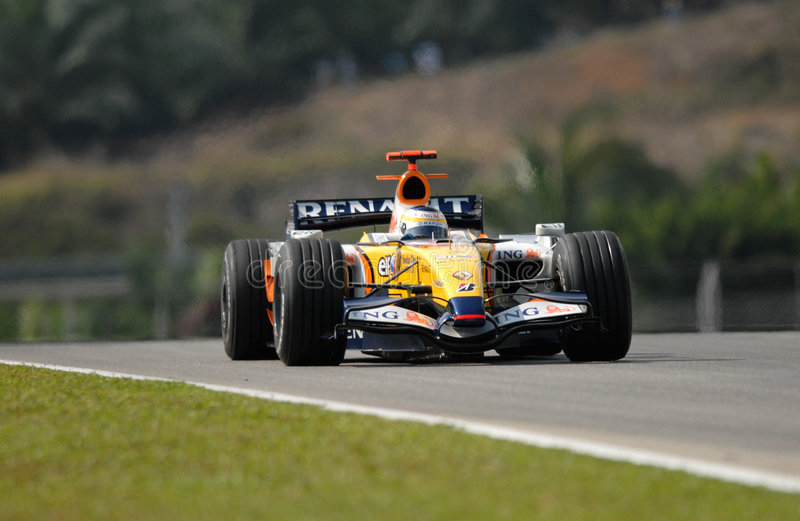 ING Renault F1 Team R27 Gianca lizenzfreie stockfotografie