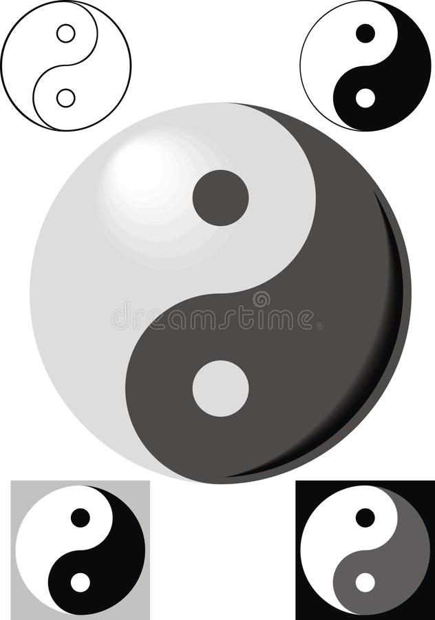 Ing und jang Symbole vektor abbildung