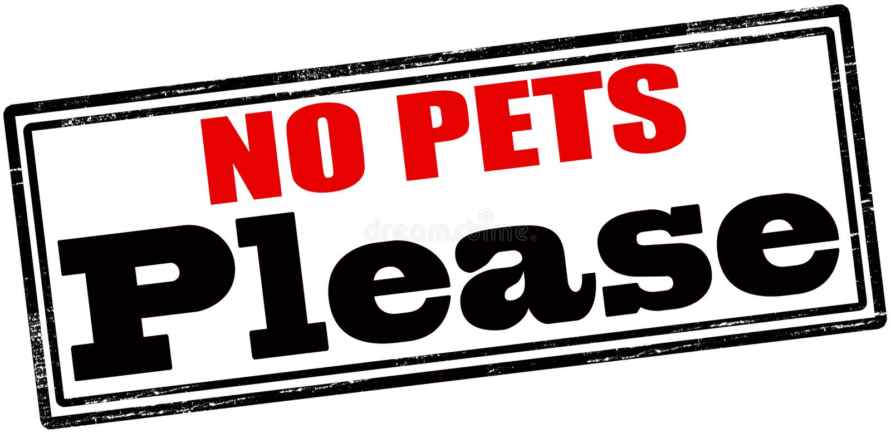 Inga husdjur behar stock illustrationer