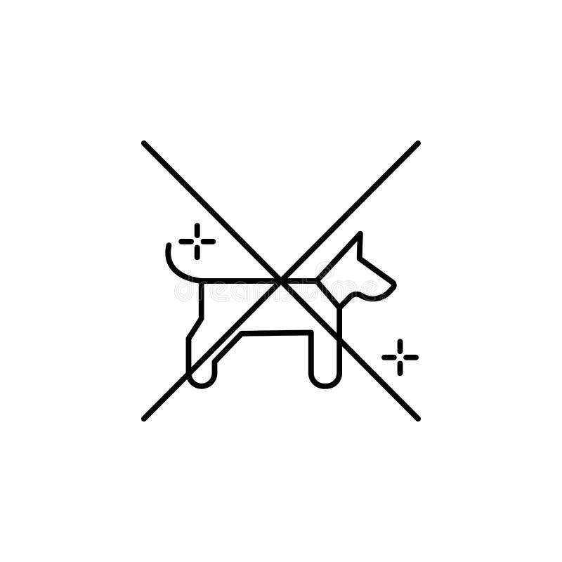 Inga husdjur, flygplan, flygplatssymbol Beståndsdel av flygplatslinjen färgsymbol royaltyfri illustrationer