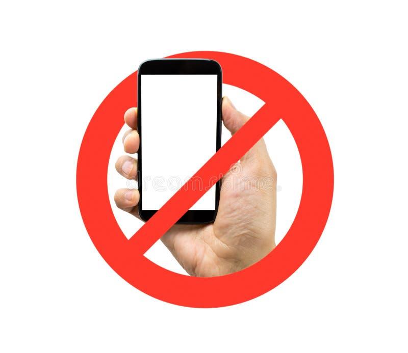 Inga mobiltelefoner arkivfoton