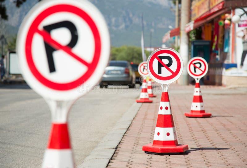 Inga parkeringstecken fotografering för bildbyråer
