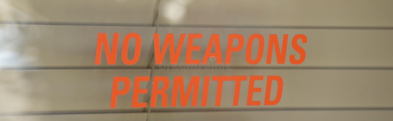 Inga vapen tillät arkivbild