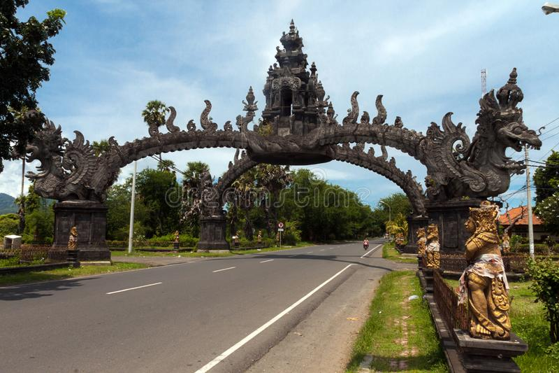 Ingang aan Bali royalty-vrije stock foto