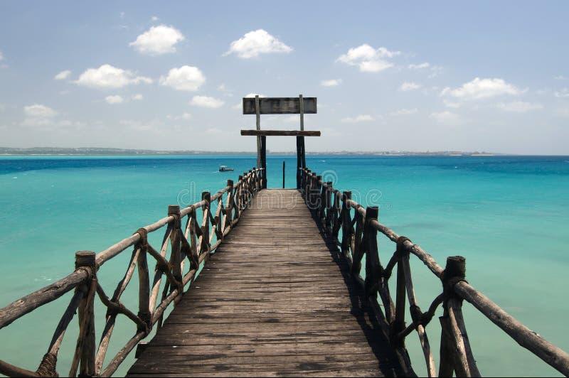 Ingang aan Changuu paradijseiland stock afbeelding