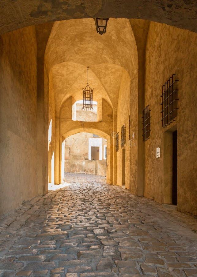 Ingang aan de citadel in Calvi, Corsica royalty-vrije stock fotografie