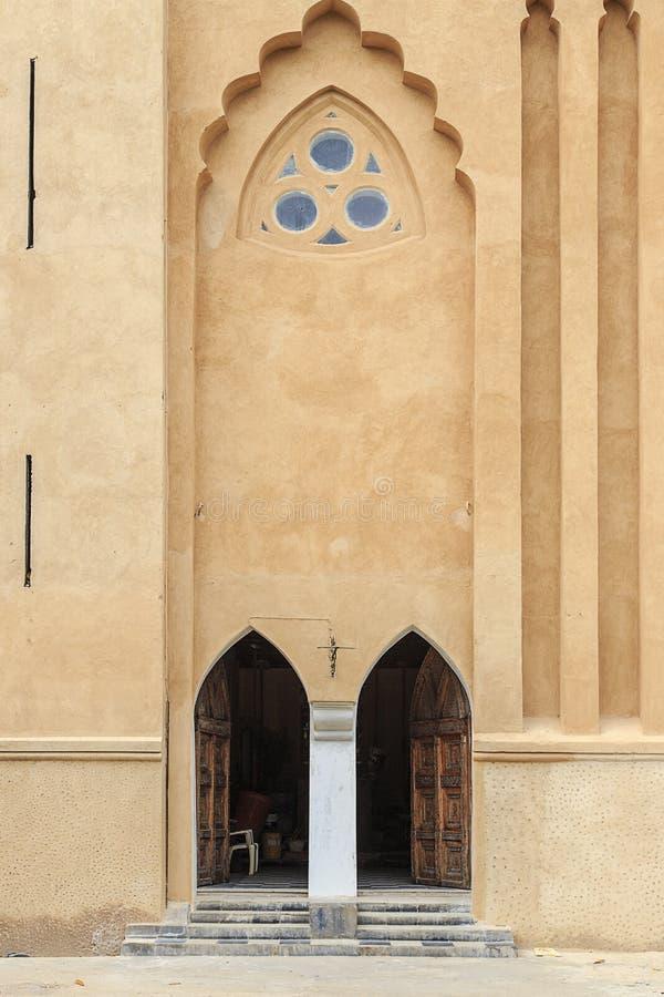 Ingang aan de Kerk van Christus - Zanzibar royalty-vrije stock afbeeldingen
