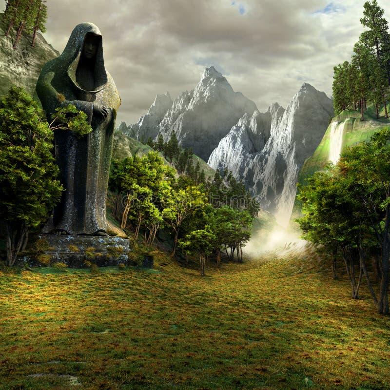Ingang aan de magische vallei vector illustratie