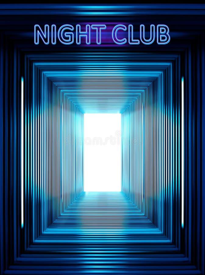 Ingang aan de nachtclub royalty-vrije stock afbeeldingen