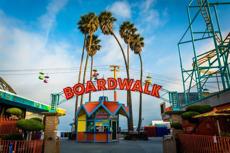 Ingang aan de Promenade, in Santa Cruz royalty-vrije stock afbeeldingen